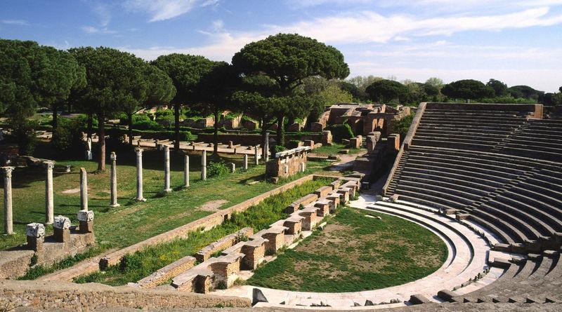 Provinz Rom, Ostia Antica, theatre, Latium, Italien